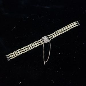 Antique Edwardian sterling watch band!